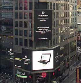 Cropped example Times Square Billboard