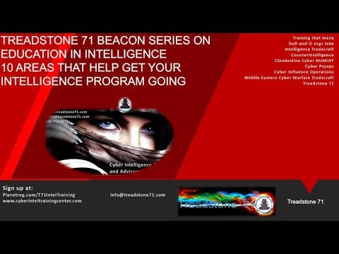 Ten Areas to Help Get Your Intelligence Program Going