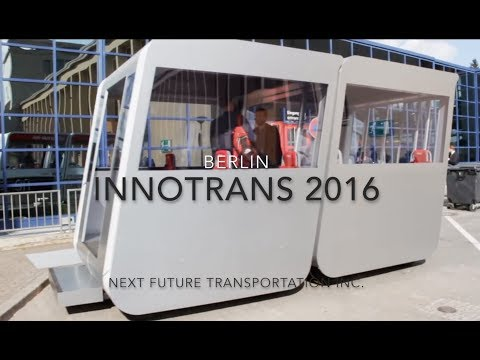 NEXT Future Transportation exhibiting two prototypes during Innotrans 2016 in Berlin
