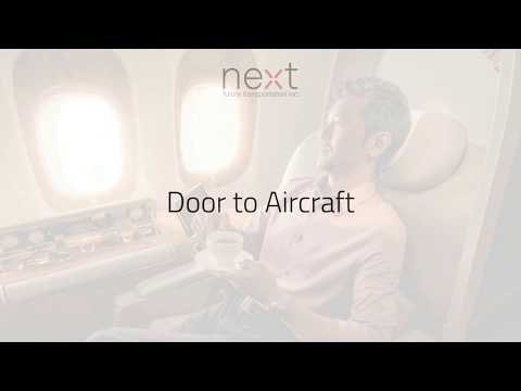 NEXT Future Transportation - Door to aircraft - In motion Check in
