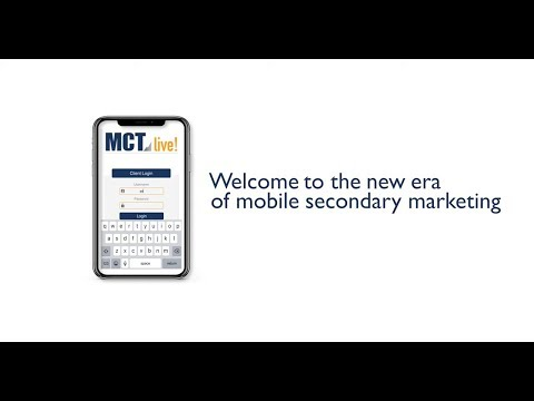 MCTlive! Mobile App - Welcome to the new era of mobile secondary marketing!