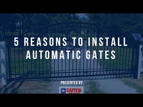 Capitol Fence Automatic Gate Installation in Austin Texas