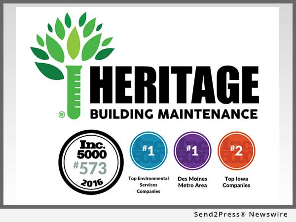 Building Maintenance Companies : Heritage group named des moines metro s fastest growing