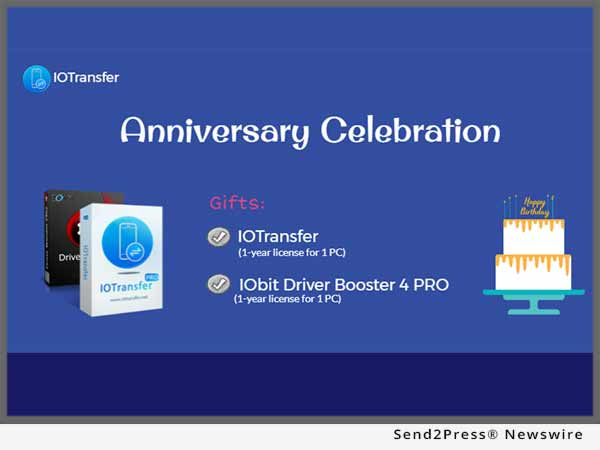 IObit and IOTransfer Anniversary