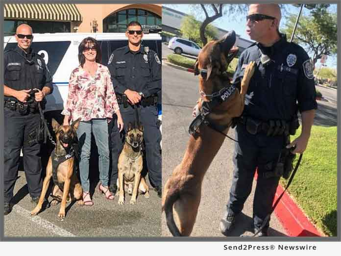 Erika Bentley and NLVPD K-9 Unit