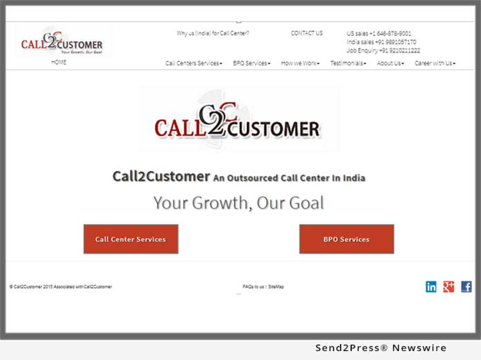 Call2Customer 2018 Website