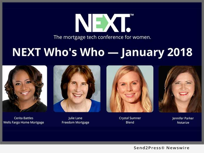 NEXT Who's Who - Jan. 2018