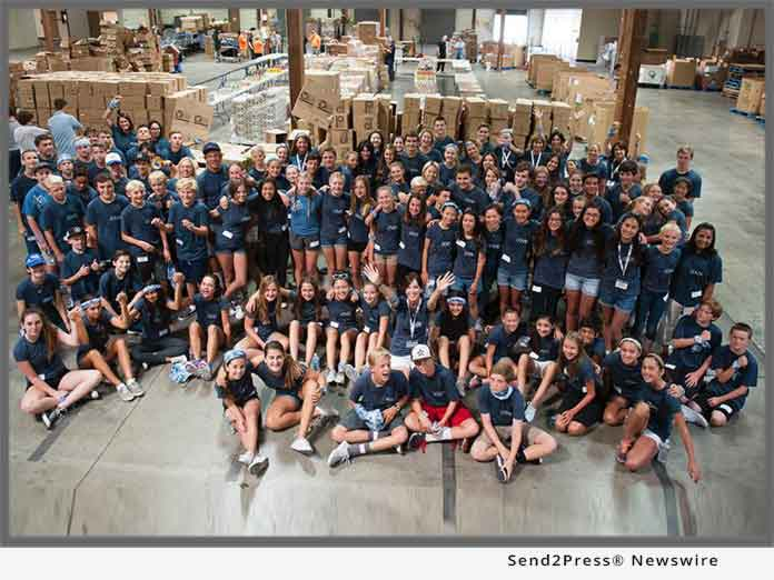 Lion's Heart teen volunteers