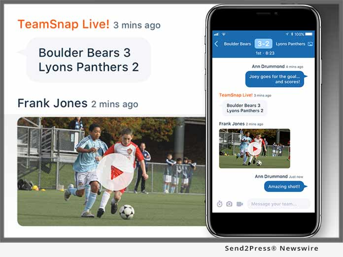 TeamSnap Live! platform and app