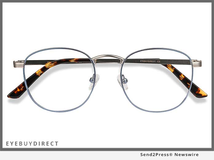 EyeBuyDirect St Michel in Frost Blue