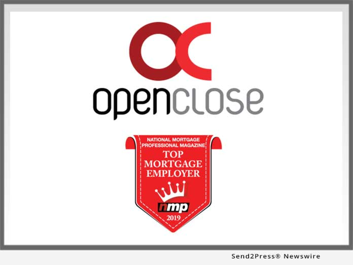 OpenClose Top Mortgage Employer