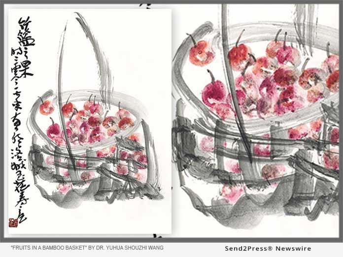 Fruits in a Bamboo Basket by Dr. Yuhua Shouzhi Wang