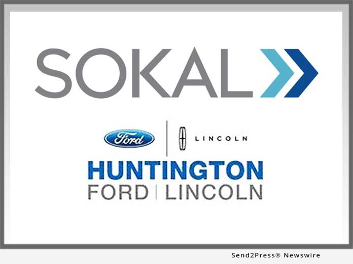 sokal signs huntington ford lincoln send2press newswire. Black Bedroom Furniture Sets. Home Design Ideas
