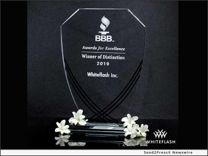 Whiteflash BBB Winner of Distinction 2019