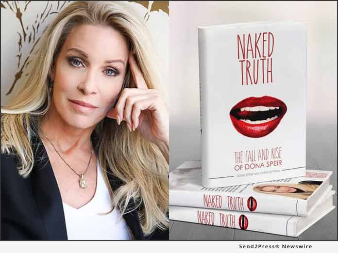 Author Dona Spier and Naked Truth Book