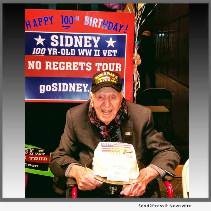 100 year old WWII vet Sidney Walton