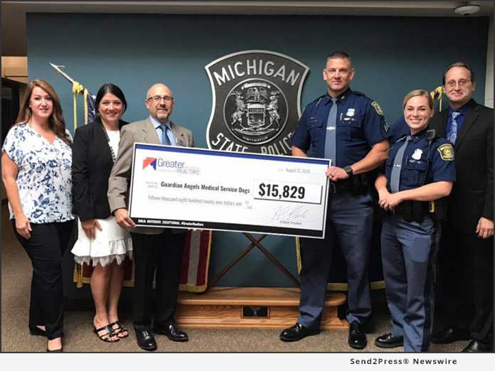 Michigan State Police with Check for GAMSD