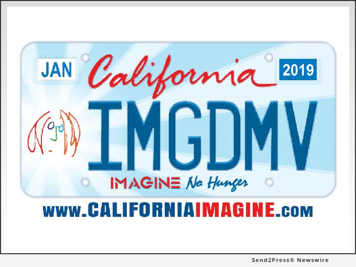 California IMAGINE NO HUNGER License Plate