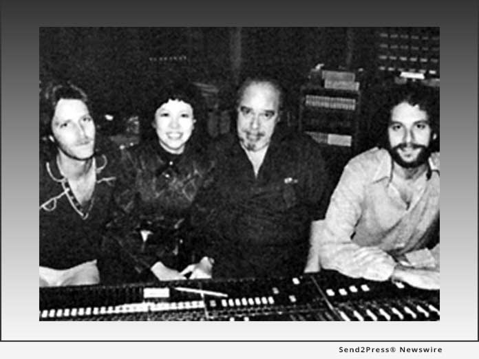 Eiko Shuri recording with Don Costa (Center)