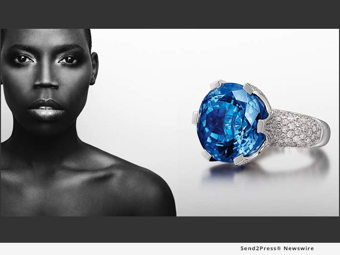 27ct round tanzanite ring by Shimansky