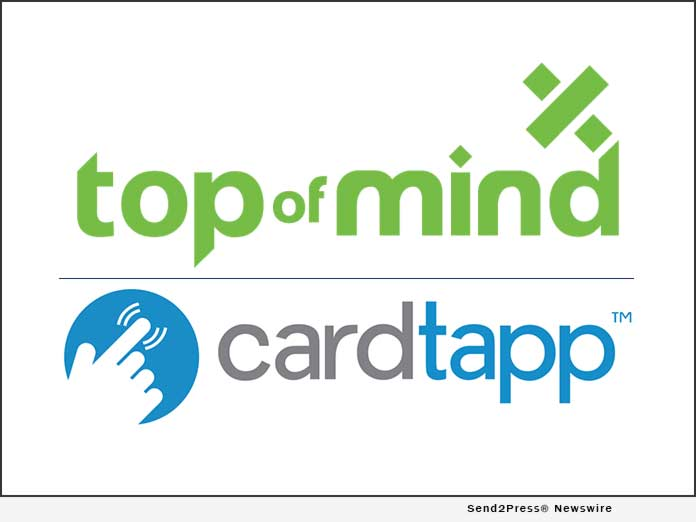 Top of Mind Networks and CardTapp