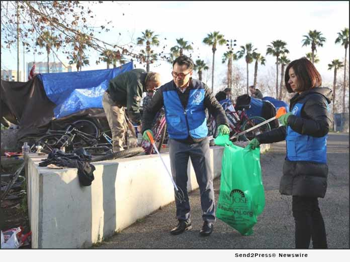 HWPL volunteers help cleanup San Jose