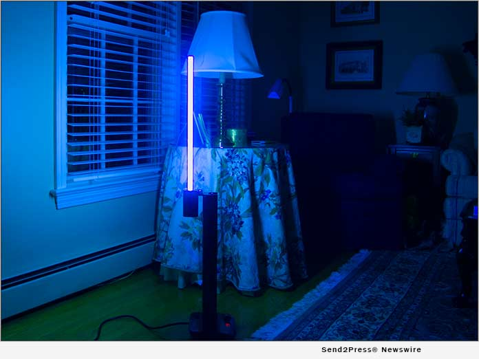 Germ Mold Buster lamps can easily be moved from room to room