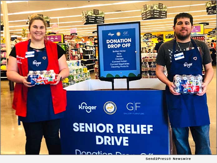 Kroger Company, Gallery Furniture and Mayor Turner - Senior Relief Drive