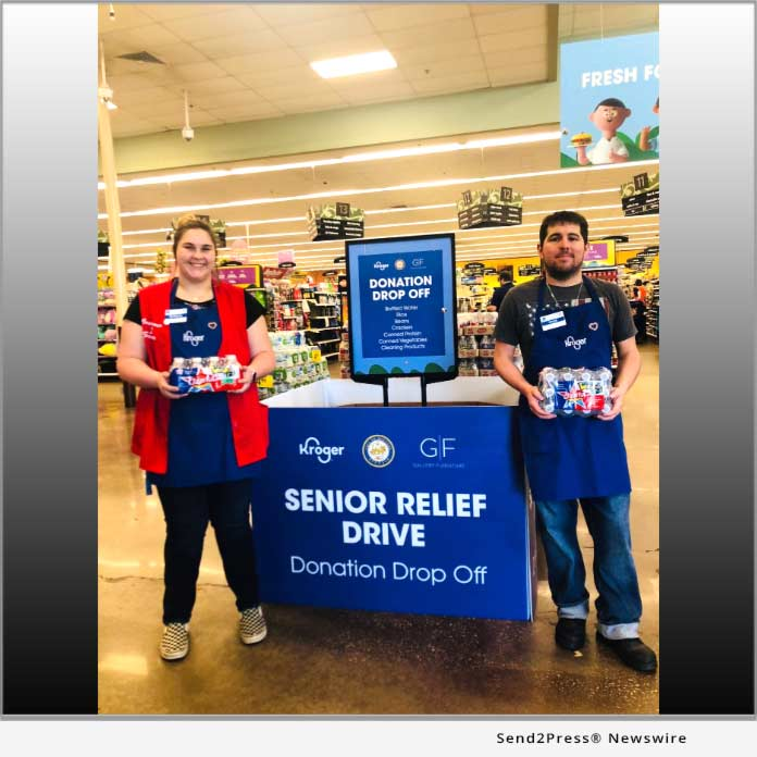 Kroger Houston, Gallery Furniture and Mayor Turner - Senior Relief Drive