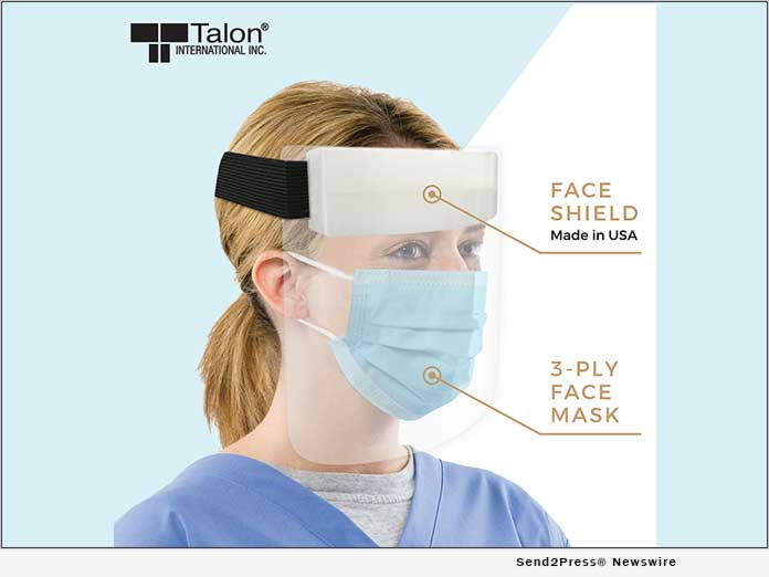 Talon International PPE Gear - Face Shield and Mask