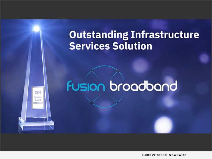 Fusion Broadband wins global 2020 IBM Beacon Award