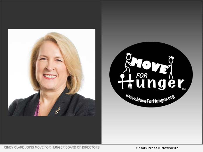 Cindy Clare Joins Move For Hunger Board of Directors