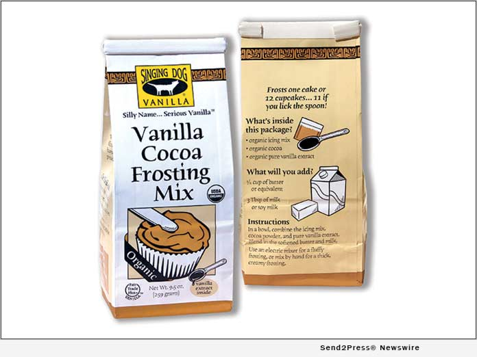 Singing Dog Vanilla Introduces Organic Vanilla Cocoa Frosting Mix