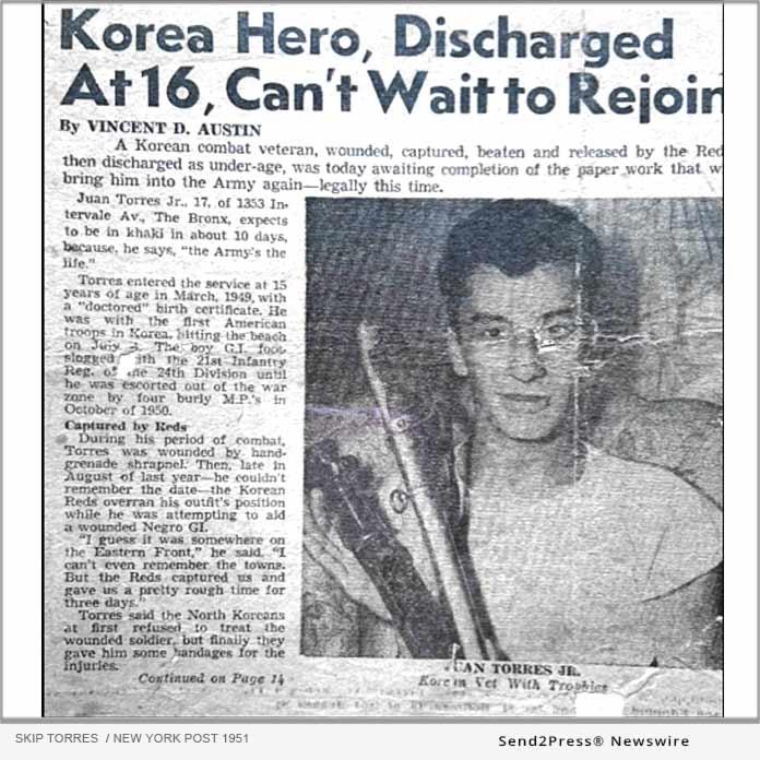 Veteran Skip Torres - New York Post 1951