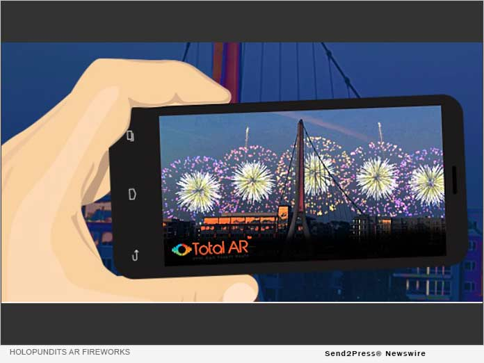 Tech Company HoloPundits Offers Free Augmented Reality Fireworks for July 4