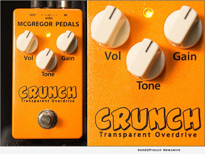 McGregor Pedals Launches the Crunch Transparent Overdrive Pedal