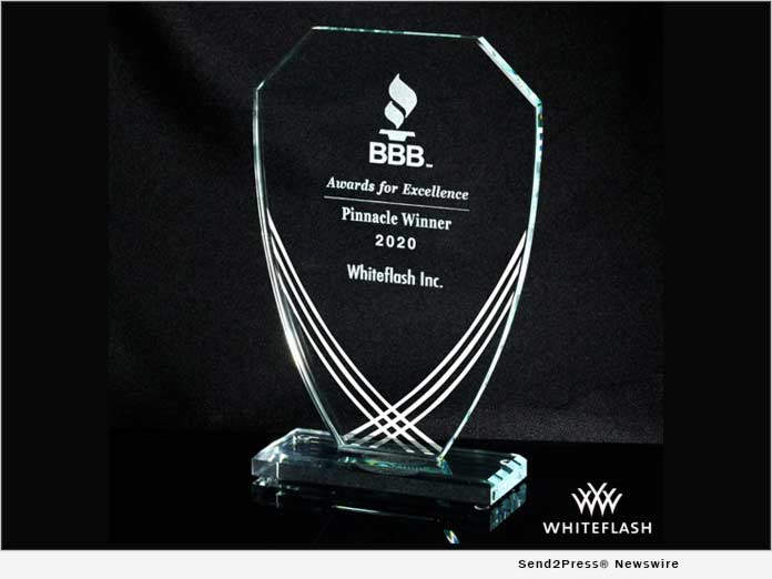 Whiteflash - BBB 2020 Pinnacle Award
