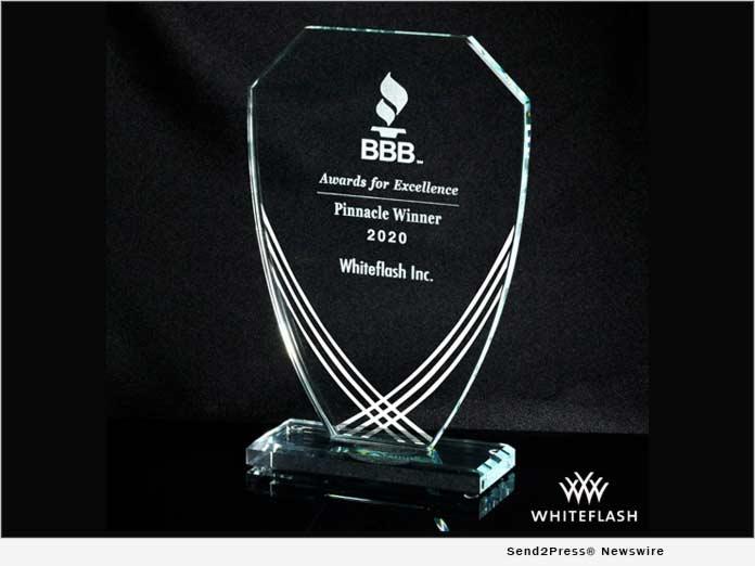 Whiteflash - BBB 2020 Pinnacle Award