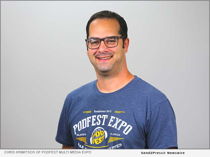 Chris Krimitsos, Chief Creative Officer of Podfest Expo