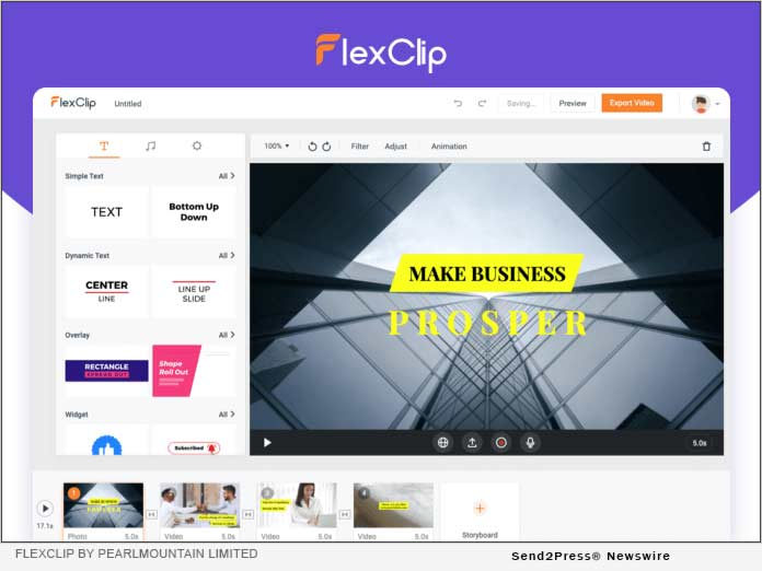 FlexClip by PearlMountain Limited