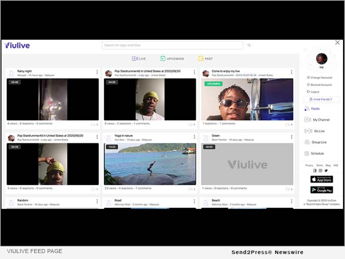 ViuLive Feed Page - Beyond Apps Group