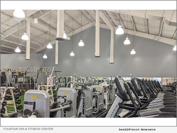 Ventilated gym floor of Fountain Fitness Center