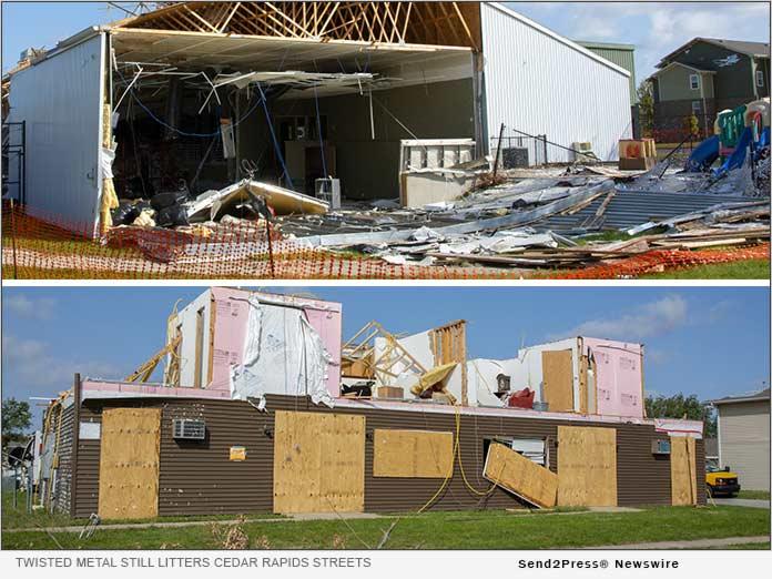IMHA: Twisted metal and debris still litter Cedar Rapids