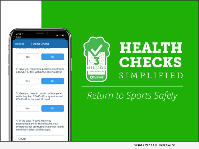 TeamSnap Health Check Issues 3 Million COVID-19 Screenings for Youth Sports Teams Over the Past Month