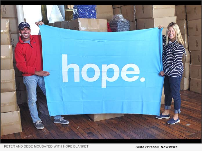 Peter and Dede Moubayed with HOPE blanket