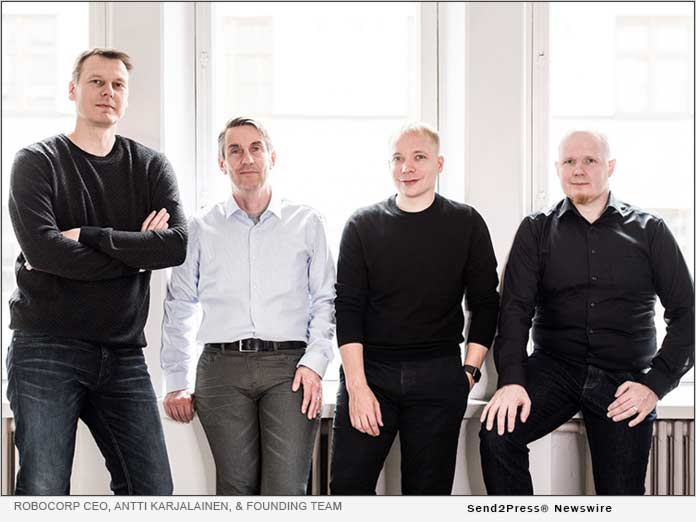 Robocorp CEO, Antti Karjalainen, and his founding team