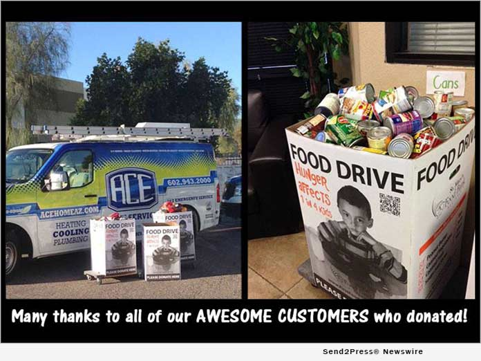 ACE Home Services Food Drive