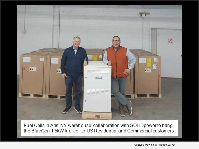 Fuel cells in Aris' NY warehouse