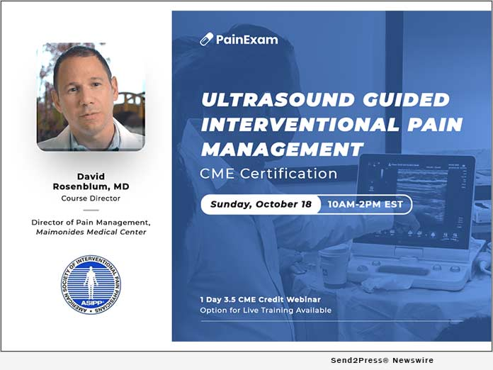 PainExam Launches New Ultrasound Interventional Pain Management CME