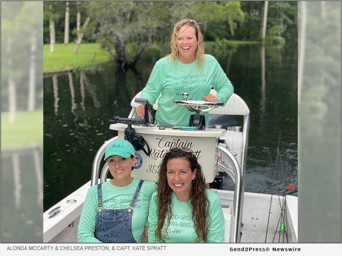 Alonda McCarty and Chelsea Preston, and Capt. Kate Spratt